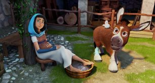 Mary (Gina Rodriguez) with Dave (Keegan-Michael Key) and Bo (Steven Yeun) in Sony Pictures Animations' THE STAR.