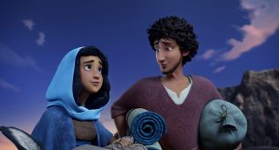 Mary (Gina Rodriguez) and Joseph (Zachary Levi) in Sony Pictures Animations' THE STAR.