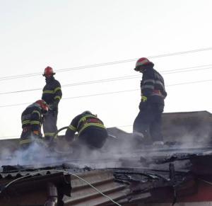 Acoperiș în flăcări la Murighiol