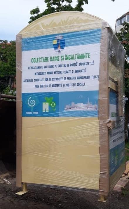 Şi-n Tulcea vor fi instalate containere pentru colectat haine și încălțăminte