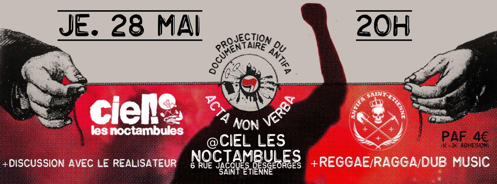 "PROJECTION DU DOCUMENTAIRE ""ACTA NON VERBA"" @ NOCTAMBULE"