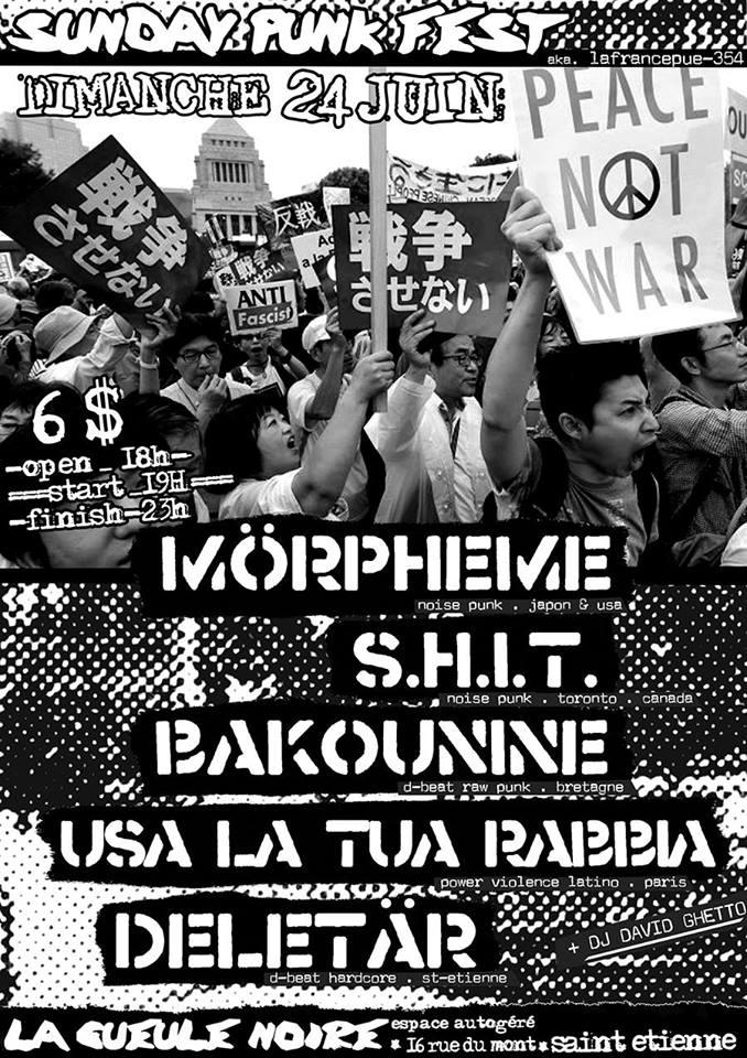 Sunday PUNK FEST - Morpheme _ Deletär _ Shit _ Bakounine