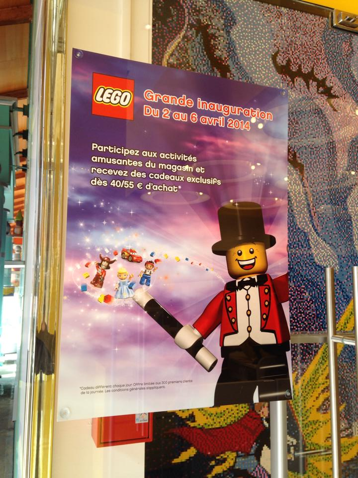 Inauguration lego store