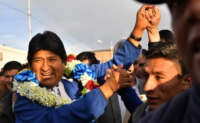 Elecciones en Bolivia: Evo Morales alcanza los votos para ganar en primera vuelta