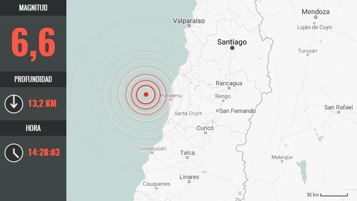 Fuerte Y Extenso Sismo Se Percibe En La Zona Centro Sur Del País: Fue Magnitud 6,6