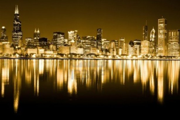 12489229-chicago-illinois-usa-march-17-2010--mage-of-the-golden-chicago-skyline-in-the-night