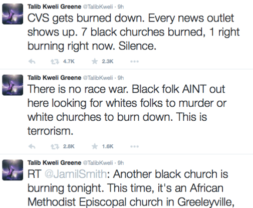 Another Black Church Burns - Talib Kweli Points out Media Silence 1