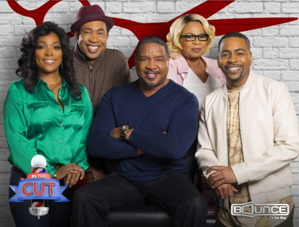 Kellita Smith (Left), who co-starred on The Bernie Mac Show, joins Dorien Wilson (Center) and the cast of the hit Bounce TV sitcom In The Cut for its second season. New episodes premiere Tuesday nights at 9:00 pm/ET, 8:00 pm/CT starting July 5. Bounce TV is the fastest-growing African-American network on television and airs on the broadcast signals of local television stations and corresponding cable carriage. Visit BounceTV.com for local channel information. (PRNewsFoto/Bounce TV)