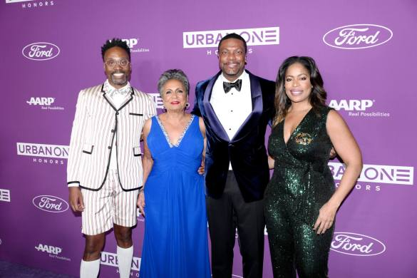 Billy Porter, Urban One Co-Founder & Chair Cathy Hughes, Co-Host Chris Tucker and TV One General Manager Michelle Rice at the URBAN ONE HONORS on Thursday, December 5, 2019 in Oxon Hill, MD at the MGM National Harbor.