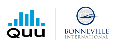 QUU AND BONNEVILLE INTERNATIONAL  SIGN MULTI-MARKET PARTNERSHIP
