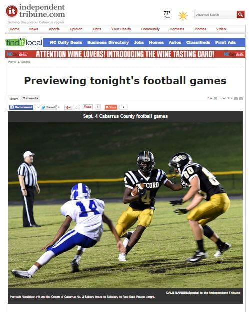 Click photo for previews of all the Cabarrus games.