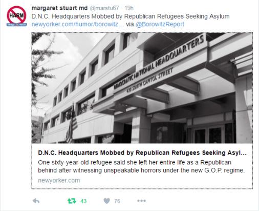 """Republican Refugees seek asylum in Democratic Party."