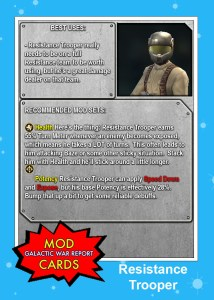 Resistance Trooper mod card