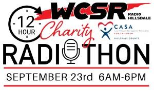 WCSR Announces Radiothon for CASA September 23, 2021