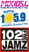 CBS Orlando Mix 105.1 WOMX Sunny 105.9 WOCL 102 Jamz WJHM Rick Stacy Erica Lee Erika Leigh Michael Saunders 95.5 WPGC