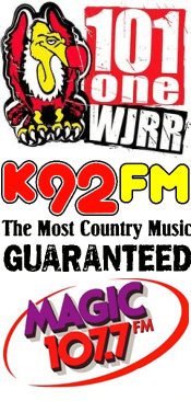 Lex Terry 101.1 WJRR Pat Lynch Crash Doc Holliday K92 WWKA Dave Collins Magic 107.7 WMGF