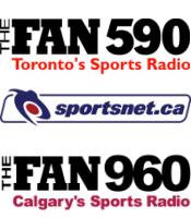 Fan 590 CJCL Toronto 960 CFAC Calgary Rogers Sportsnet TSN Radio Rogers CTV