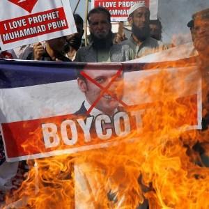 Forbidden depictions Prophet Muhammad Macron France
