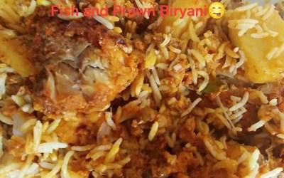 Fish and Prawn Biryani Recipe