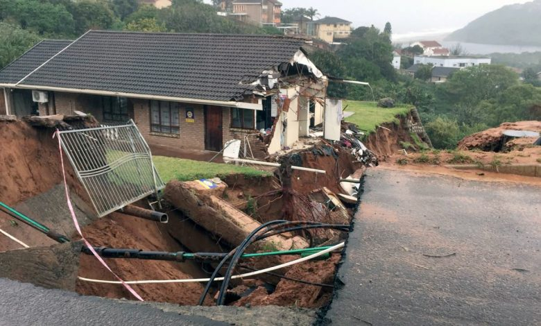 La Mercy home ripped apart by heavy rain
