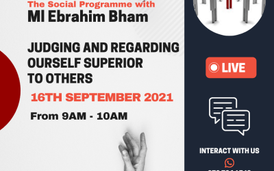 The Social Programme – Judging And Regarding Ourself Superior To Others