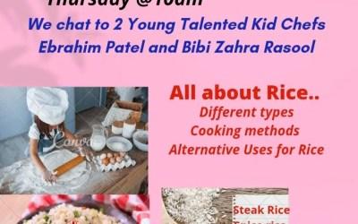 Household Express with Ammarah Moola: We chat to 2 Young Talented Kid Chefs Ebrahim Patel & Bibi Zahra Rasool