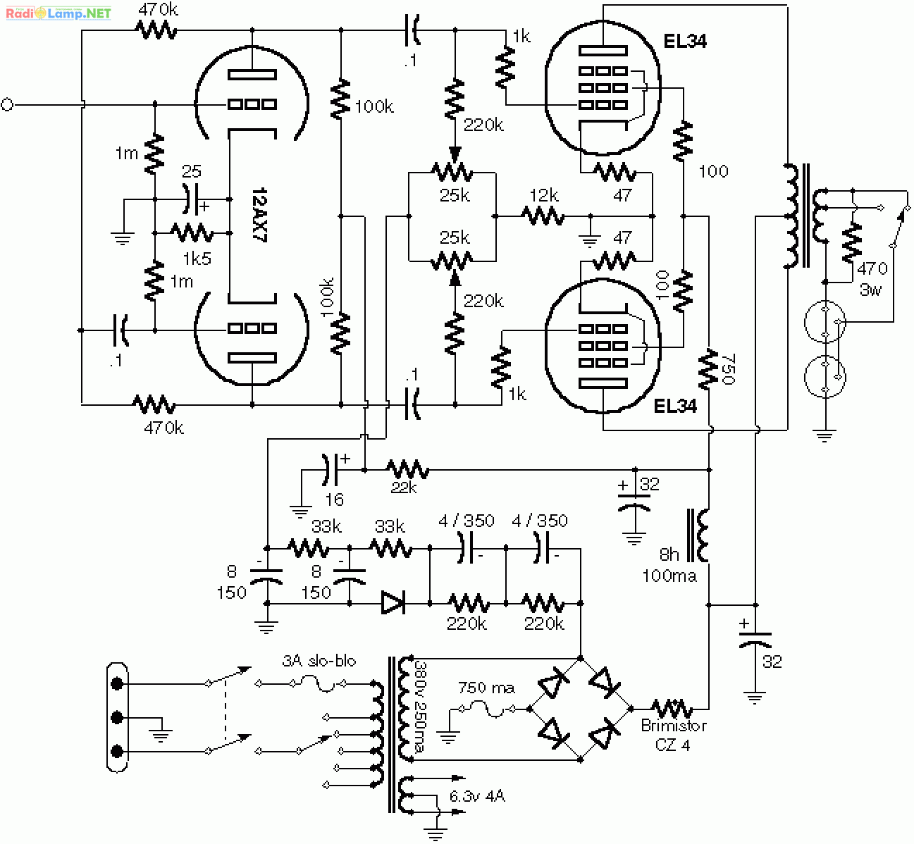 Vox Guitar Amp Wiring Diagram