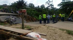 Los daños en la vía Muisne- Chamanga-Manabí se evaluaron