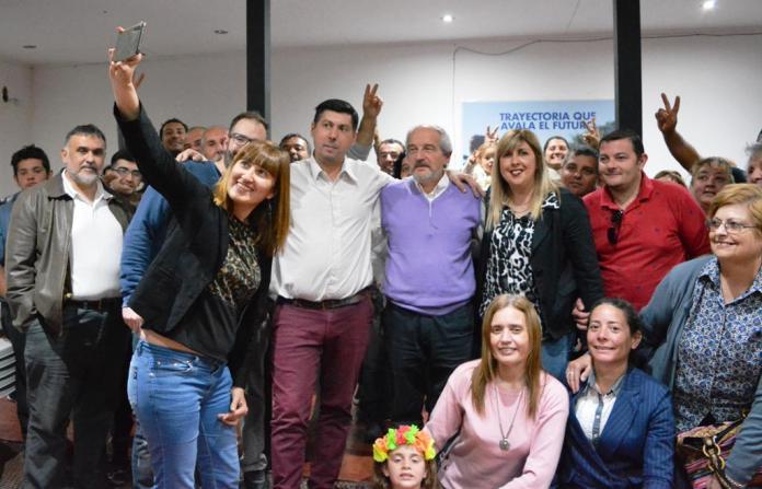 Ciminelli en un acto del Frente Renovador que conduce Hugo Moro