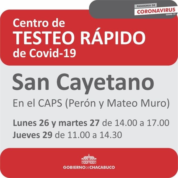 Covid-19: testeos rápidos de esta semana