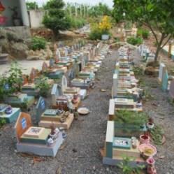 Chôn cất thai nhi của gia đình Tống Phước Phúc