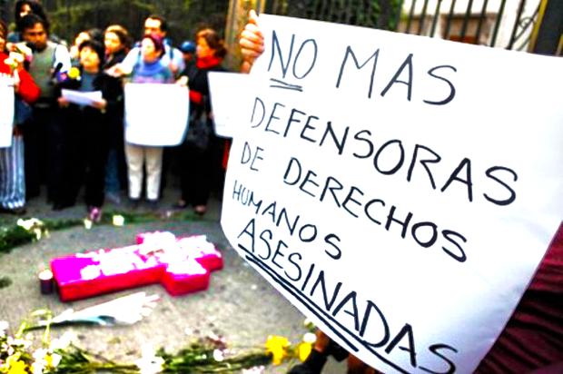 """INFORME: Defensor(a) de derechos humanos en Colombia: """"AGÚZATE"""" ¡ Que nos están matando ¡ - defensoras-derechos-humanos"""