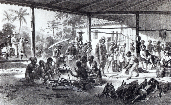 Según algunos estudiosos del mito zombi, este reproduce la tragedia de los africanos sometidos por los traficantes de esclavos y desposeídos de su identidad. Imagen: Wikipedia