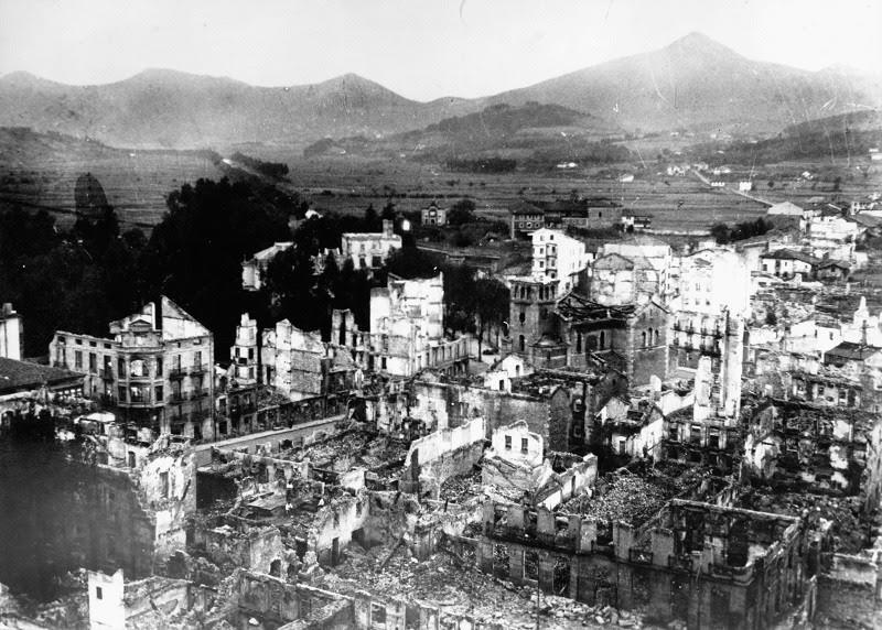 80 años del bombardeo de Gernika. ¡Arrasad Gernika al belico grito de España imperial! - guernica