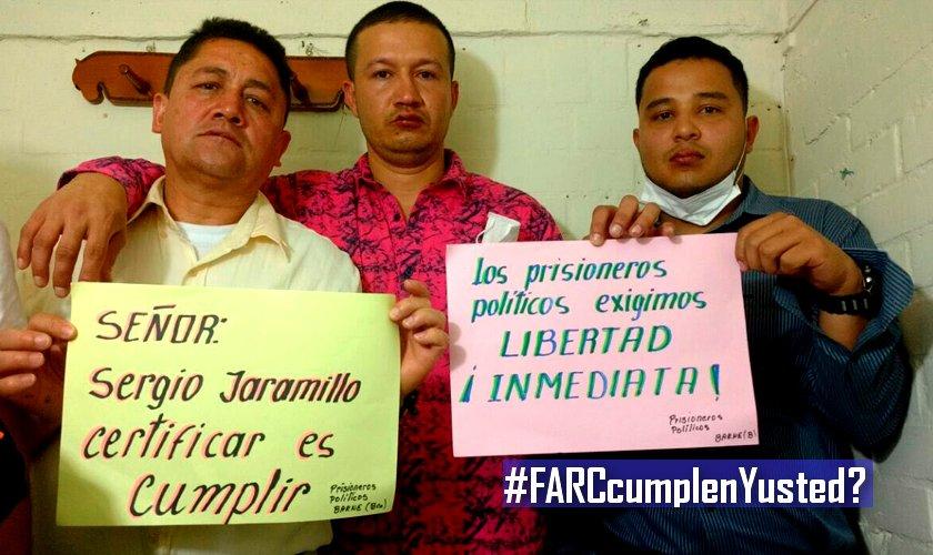 Hieren a prisioneros en cárcel de Cali, podrían ser de las FARC - Prisioneros-polítcos-FARC
