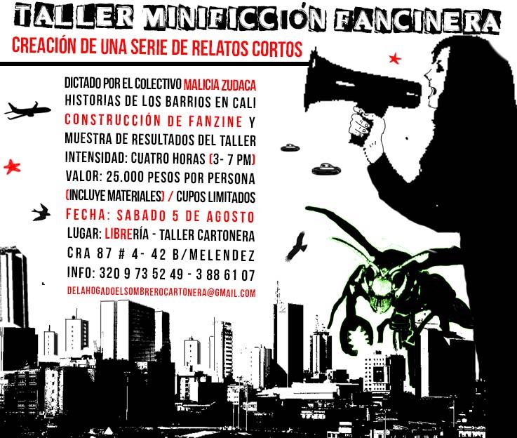 Malicia Zudaca incendia la comuna 18 con su minificción  fanzinera - taller-minificción-fanzinera