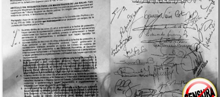 No censuren a defensor@s de derechos humanos en la JEP - CENSURA