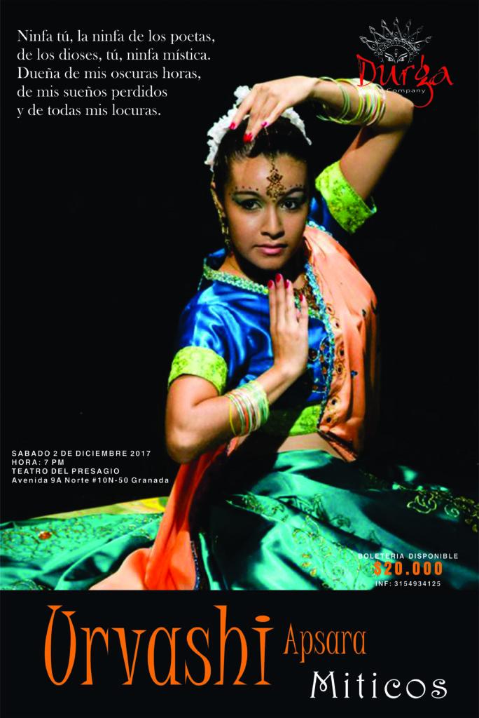 La danza de bollywood se toma el Teatro del Presagio - Diciembre_2_Míticos_urvasi-684x1024