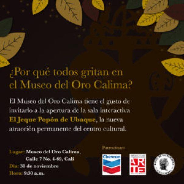 El Museo del Oro estrena Sala Interactiva - Tarjeta-de-Invitación-300x300