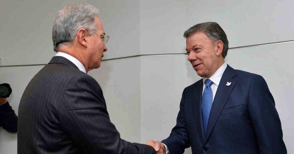 ¿Paz Negociada? - reunion-santos-uribe-post-plebiscito-1024x537