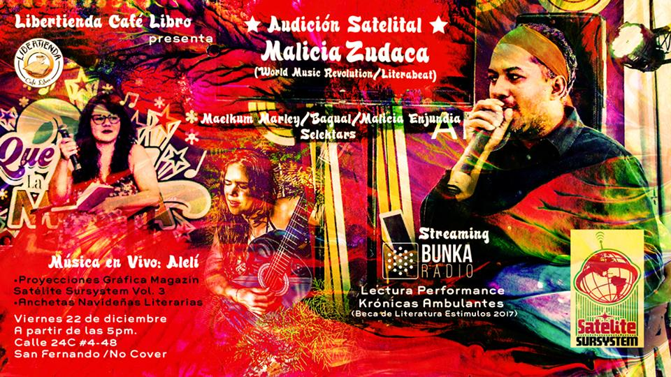 AUDICION SATELITAL   MALICIA ZUDACA  EN LIBERTIENDA - flyer