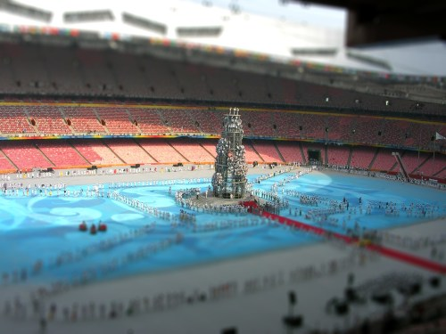 Beijing Olympics Closing Ceremony Rehearsal in Minature