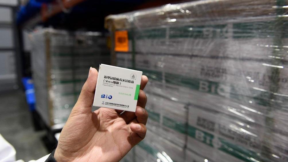 Las vacunas que llegan de China se sumarán al total de 22.584.145 dosis de distintas marchas que recibió el país.