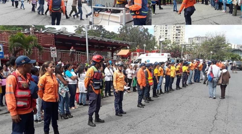 Grupos Voluntarios de «Los Teques» realizan simulacro conjunto. (Hospital Victorino Santaella).