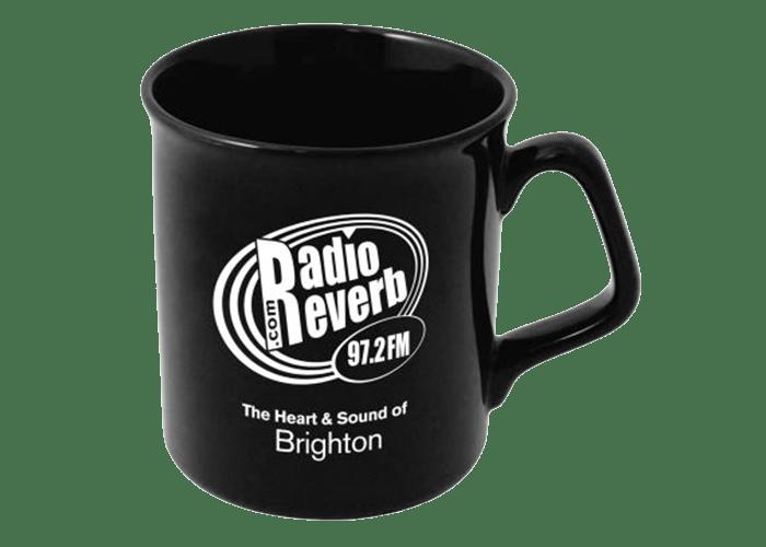 RadioReverb black mug