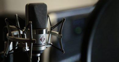 Microphone en gros plan