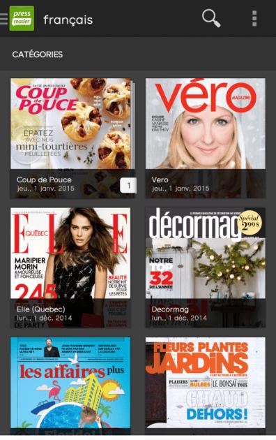 Magazines canadiens francophones dans PressReader