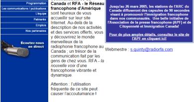 www.radiorfa.com en 2006