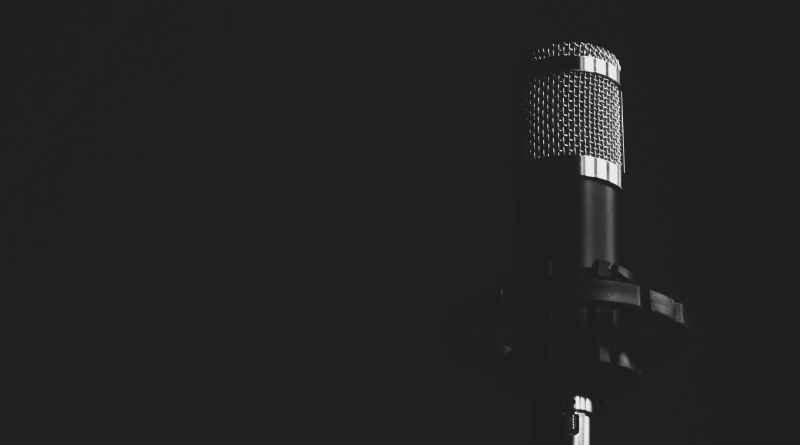 grayscale condenser microphone