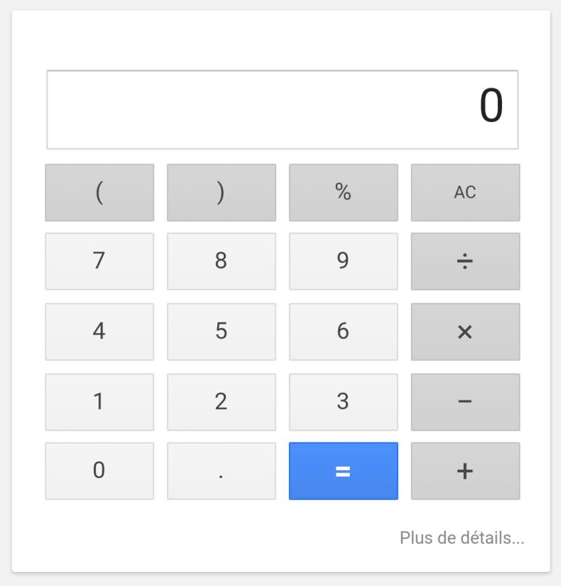 Calculatrice Google
